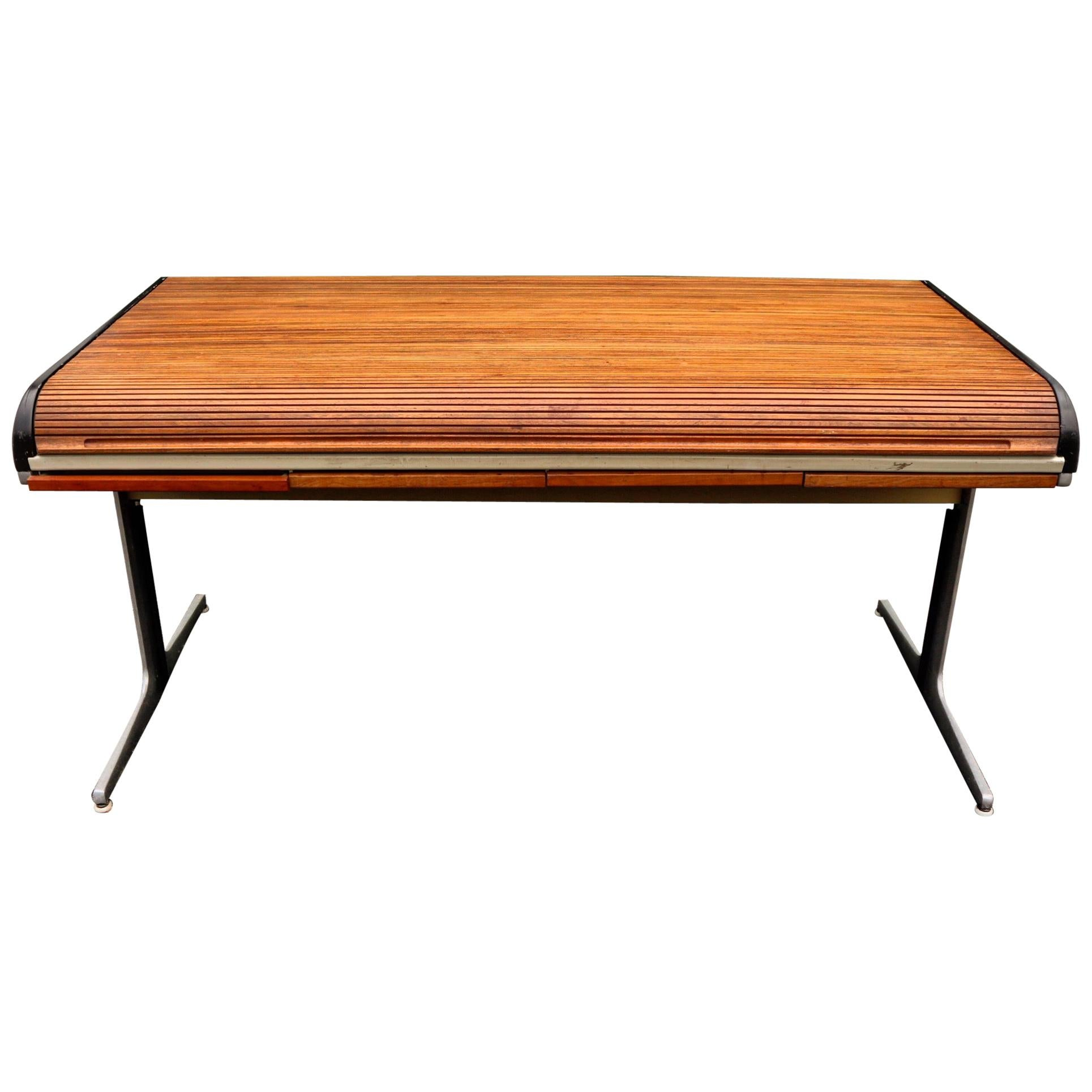 George Nelson for Herman Miller Action Office I Tambour Roll Top Office Desk