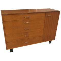 George Nelson for Herman Miller Cabinet Chest in Book Match Walnut Grain