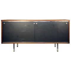 George Nelson for Herman Miller Credenza, Walnut,Stainless Steel and  Laminate