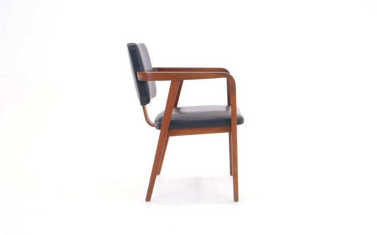 Mid-Century Modern George Nelson for Herman Miller Desk or Side Chair with Arms, Signed For Sale