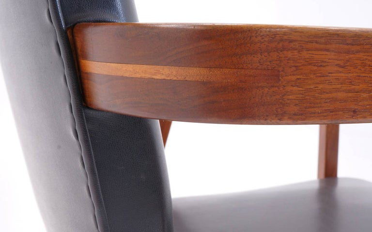 Upholstery George Nelson for Herman Miller Desk or Side Chair with Arms, Signed For Sale