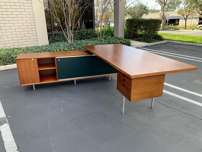 George Nelson for Herman Miller Executive Desk with Credenza Return 5