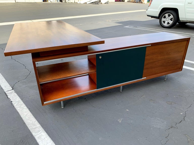 George Nelson for Herman Miller Executive Desk with Credenza Return 6