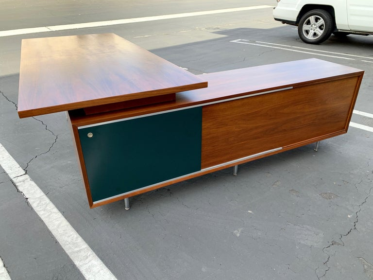 North American George Nelson for Herman Miller Executive Desk with Credenza Return