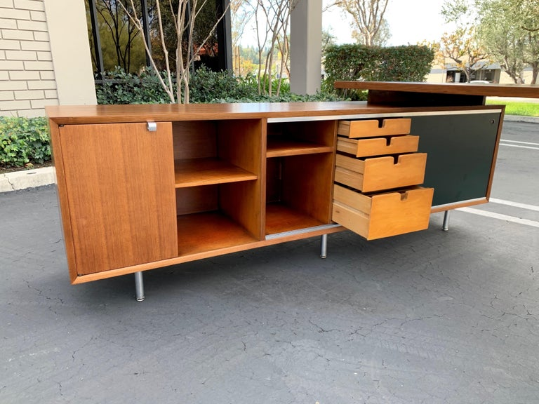 George Nelson for Herman Miller Executive Desk with Credenza Return 2