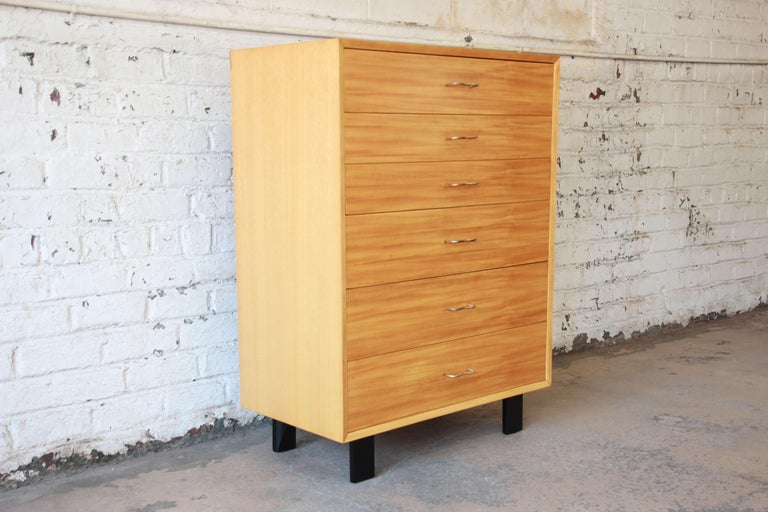 Mid-Century Modern George Nelson for Herman Miller Highboy Dresser For Sale