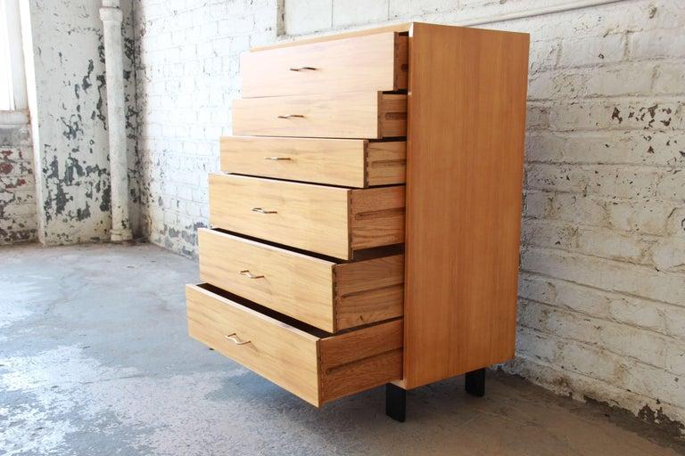 Wood George Nelson for Herman Miller Highboy Dresser For Sale