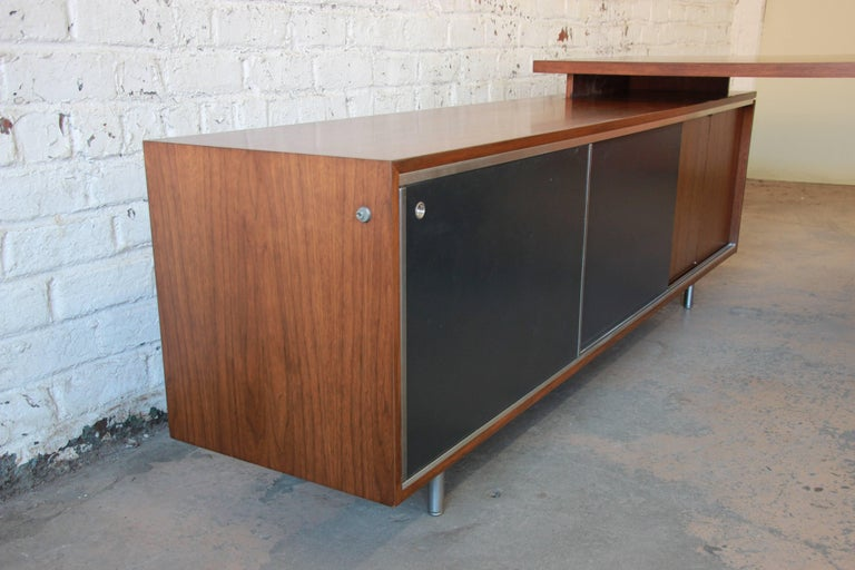 George Nelson for Herman Miller L-Shaped Executive Desk, 1950s For Sale 8