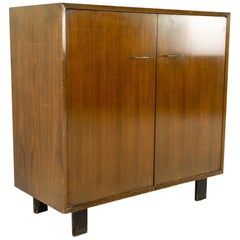 George Nelson for Herman Miller Mid Century 2 Door Media Cabinet