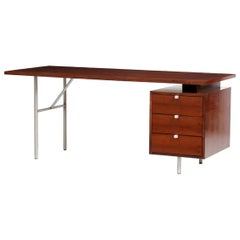 George Nelson for Herman Miller Midcentury Rectangular Wood Desk, USA, 1950