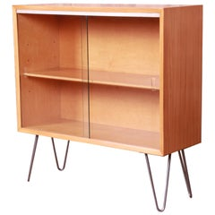 George Nelson for Herman Miller Primavera Bookcase on Hairpin Legs, Refinished