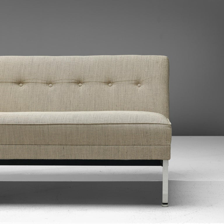 Mid-Century Modern George Nelson for Herman Miller Sofa in Off-White Fabric For Sale
