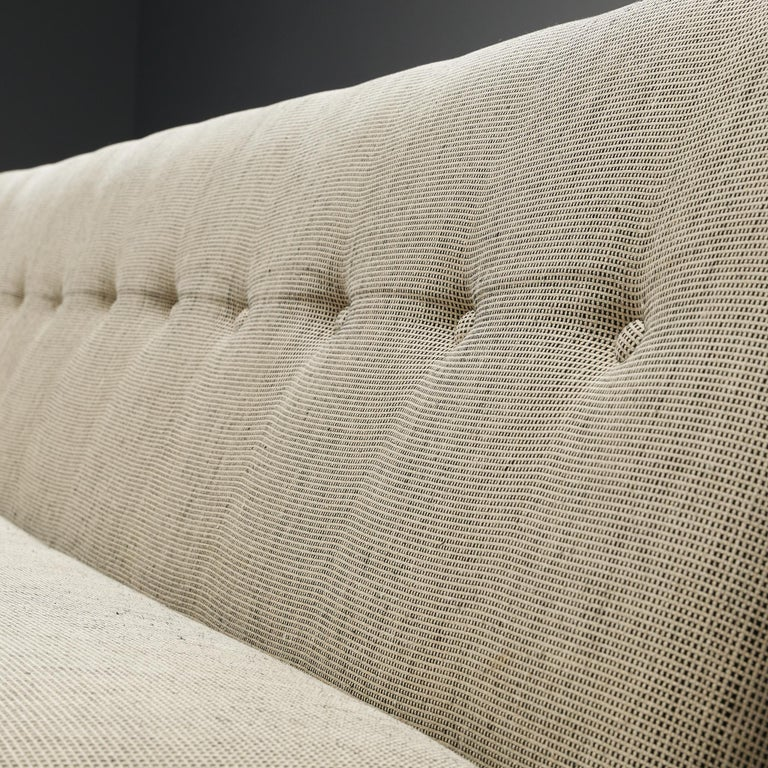 Metal George Nelson for Herman Miller Sofa in Off-White Fabric For Sale