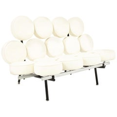 George Nelson for Herman Miller Style Midcentury Marshmallow Sofa White