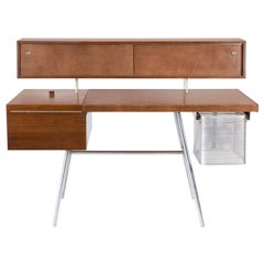 George Nelson for Herman Miller Walnut Desk, N. 4658