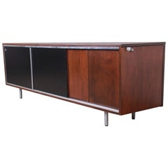 George Nelson for Herman Miller Walnut Sideboard Credenza, Newly Restored