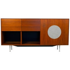 George Nelson for Herman Miller Walnut Thin Edge HiFi Media Cabinet, 1952