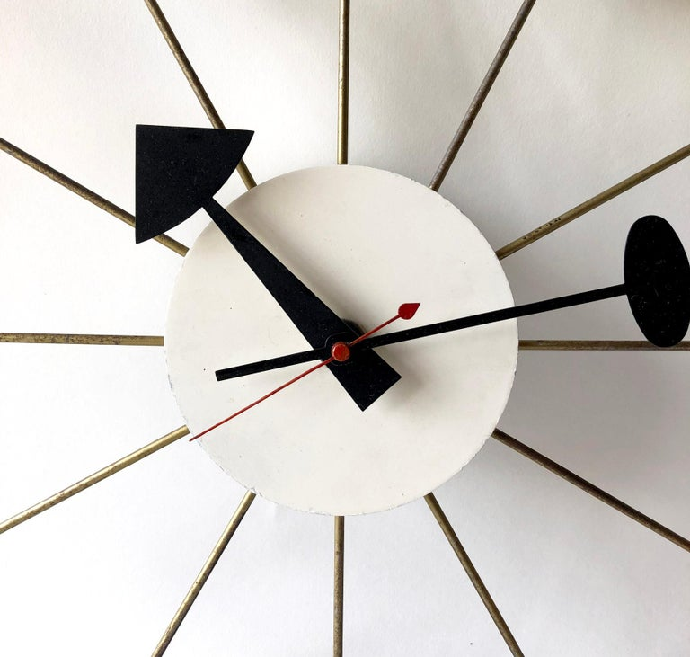 Mid-Century Modern George Nelson for Howard Miller Vintage Modern Multicolor Atomic Ball Wall Clock For Sale