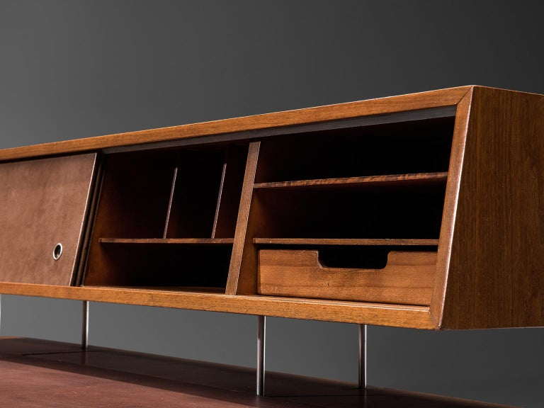 Mid-20th Century George Nelson Functional Desk in Walnut For Sale