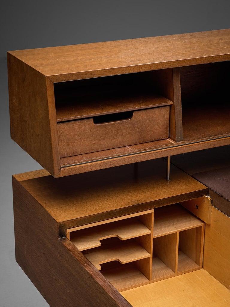 Steel George Nelson Functional Desk in Walnut For Sale