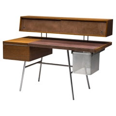 George Nelson Functional Desk in Walnut
