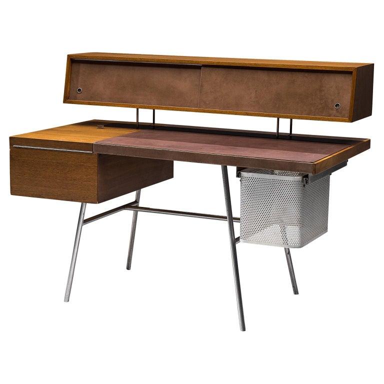 George Nelson Functional Desk in Walnut For Sale