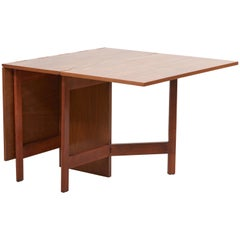 George Nelson Gate-Leg Dining Table Model 4656 by Herman Miller in Walnut