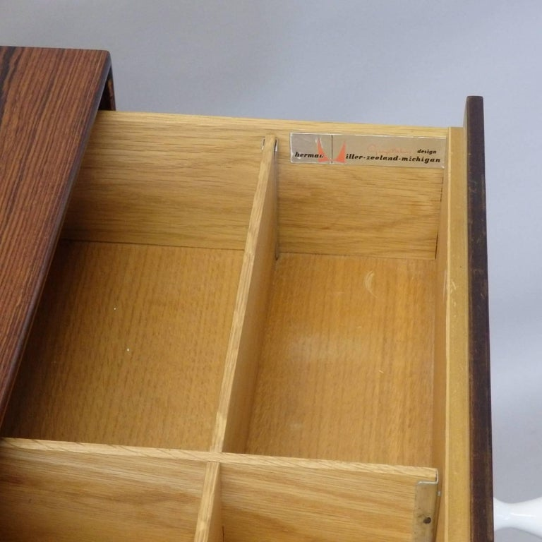 20th Century George Nelson Herman Miller Thin Edge Rosewood Dresser For Sale