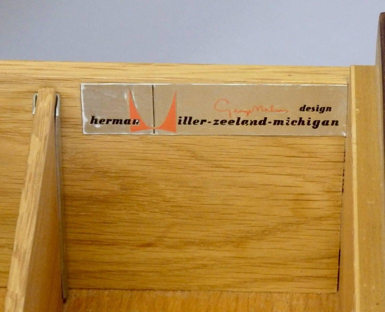 George Nelson Herman Miller Thin Edge Rosewood Dresser For Sale 1