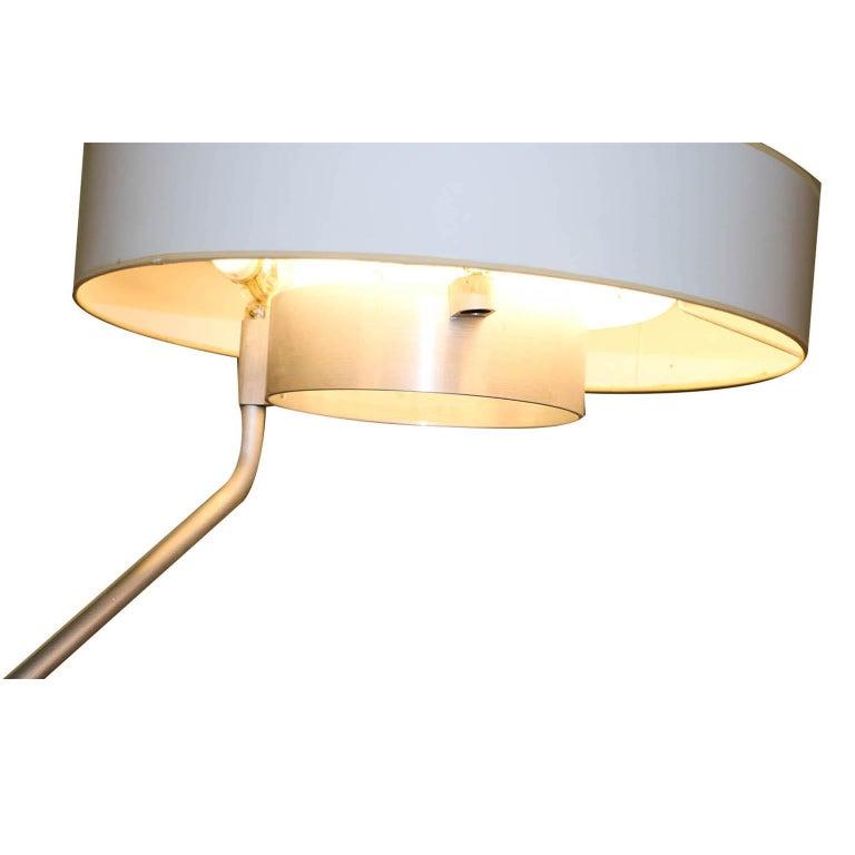 Aluminum George Nelson Herman Miller Walnut Planter Lamp Table Model 4634-L For Sale