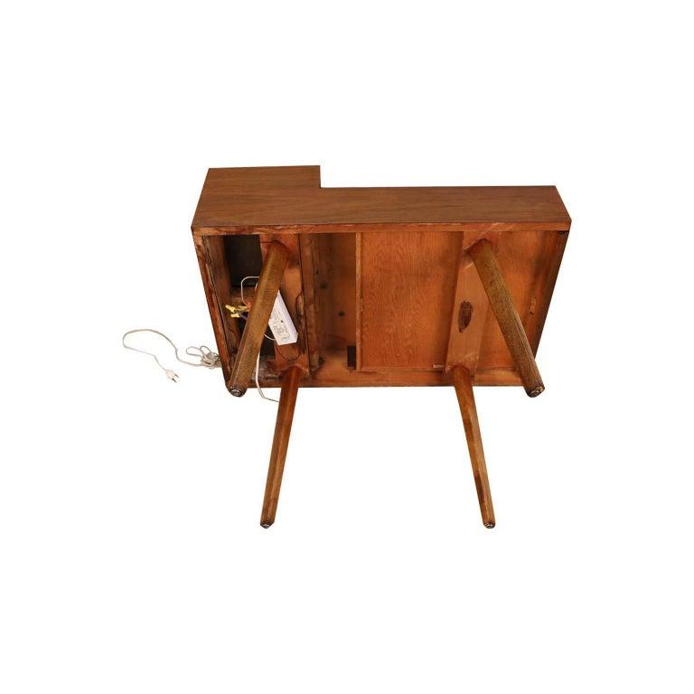 George Nelson Herman Miller Walnut Planter Lamp Table Model 4634-L For Sale 2