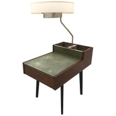 George Nelson Herman Miller Walnut Planter Lamp Table Model 4634-L