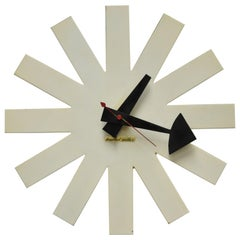 George Nelson Howard Miller Model 2213 Asterisk White Wall Clock