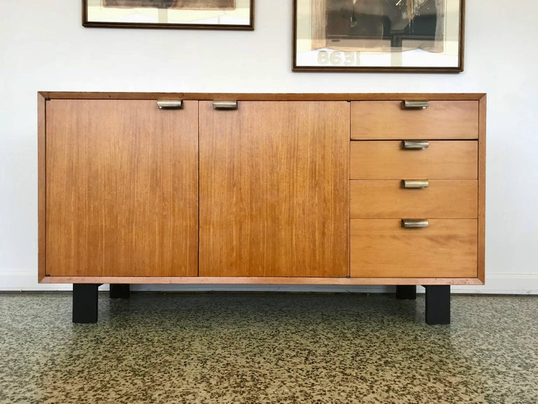 Mid-Century Modern George Nelson Low Profile Credenza Sideboard for Herman Miller For Sale