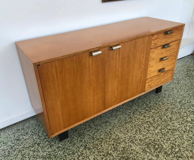 20th Century George Nelson Low Profile Credenza Sideboard for Herman Miller For Sale
