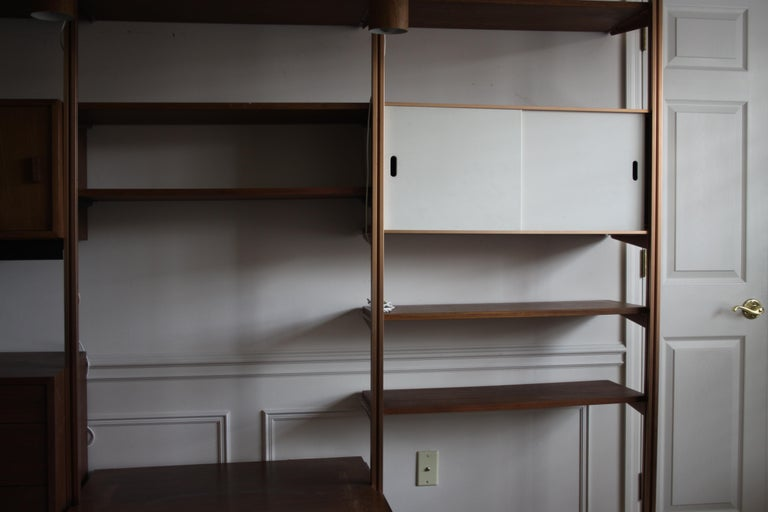 George Nelson Midcentury Storage Wall Unit Bookcase for Omni For Sale 7