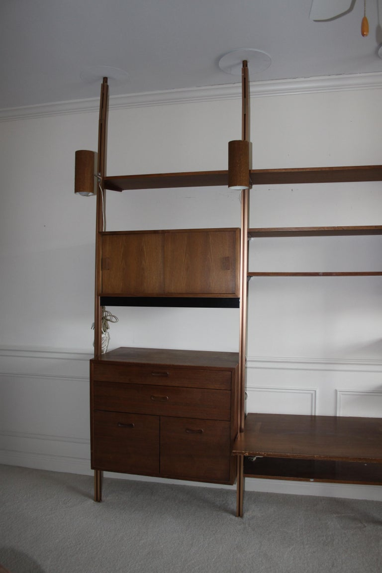 Mid-Century Modern George Nelson Midcentury Storage Wall Unit Bookcase for Omni For Sale