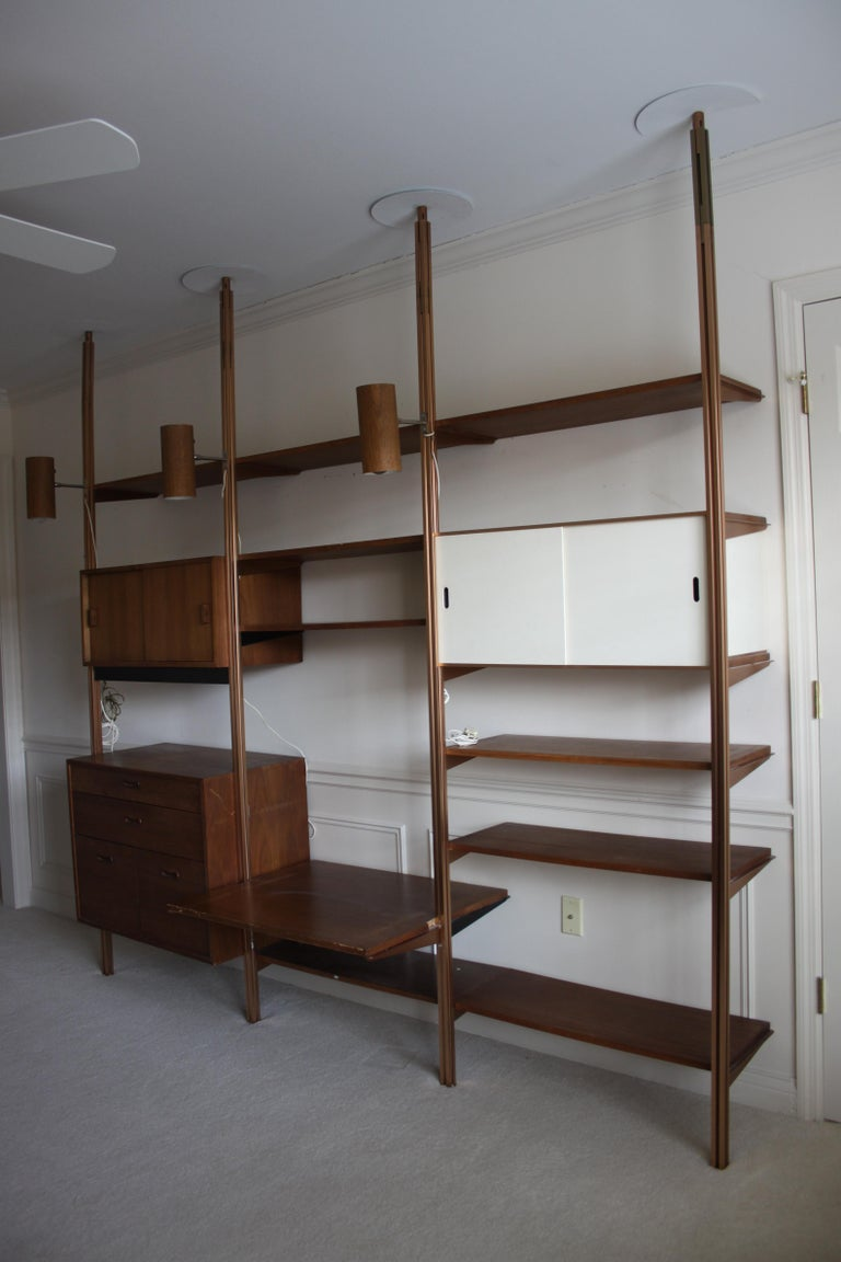 George Nelson Midcentury Storage Wall Unit Bookcase for Omni In Good Condition For Sale In St. Louis, MO