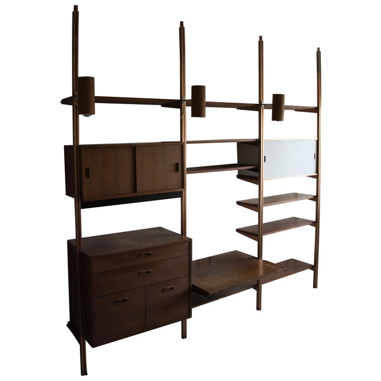 George Nelson Midcentury Storage Wall Unit Bookcase for Omni For Sale