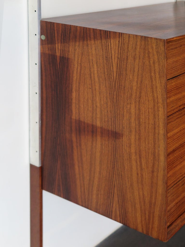 George Nelson Mid-Century Modern Wood Wall System, 1950s For Sale 4