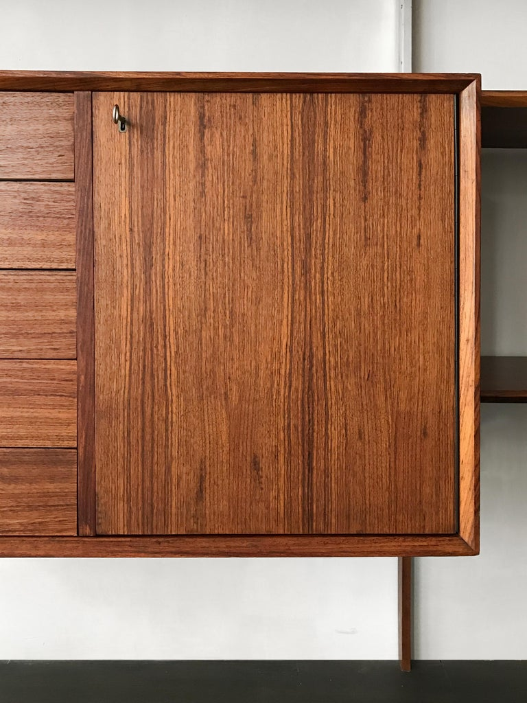George Nelson Mid-Century Modern Wood Wall System, 1950s For Sale 12