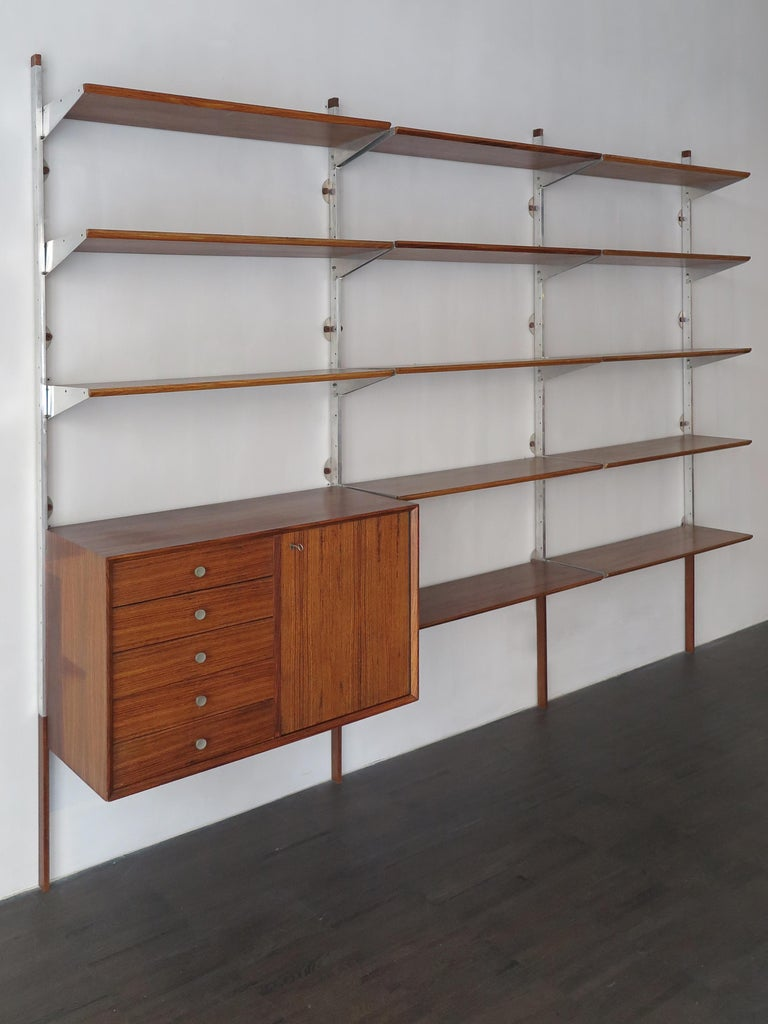 American George Nelson Mid-Century Modern Wood Wall System, 1950s For Sale