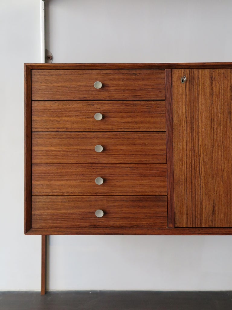 Mid-20th Century George Nelson Mid-Century Modern Wood Wall System, 1950s For Sale