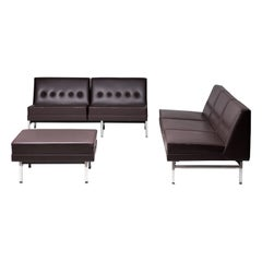 George Nelson Modular Group Living Room Set in Original Naugahyde