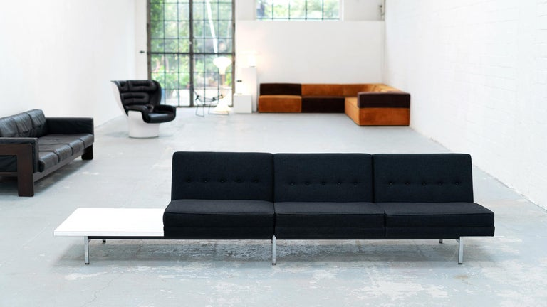 George Nelson, Modular Sofa and Table Seating System, 1966 for Herman Miller For Sale 6