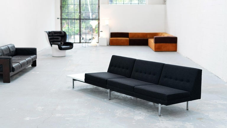 George Nelson, Modular Sofa and Table Seating System, 1966 for Herman Miller For Sale 7