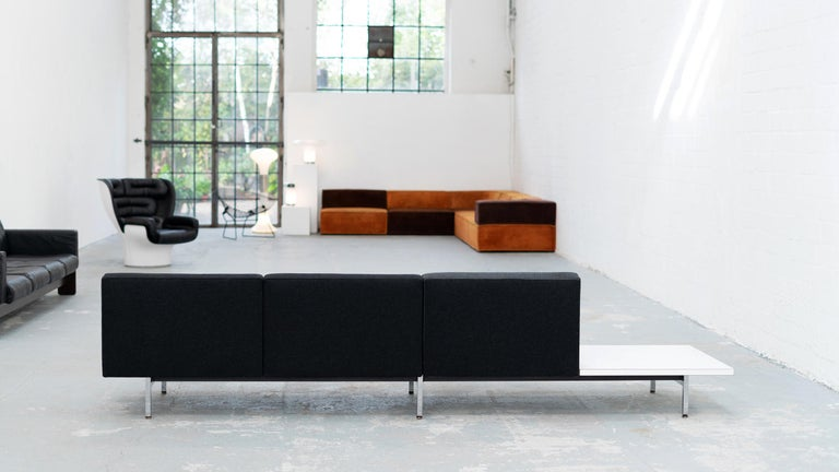 George Nelson, Modular Sofa and Table Seating System, 1966 for Herman Miller For Sale 9
