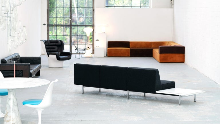 Steel George Nelson, Modular Sofa and Table Seating System, 1966 for Herman Miller For Sale