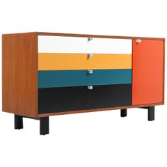 George Nelson Multi-Color Lacquered Credenza for Herman Miller