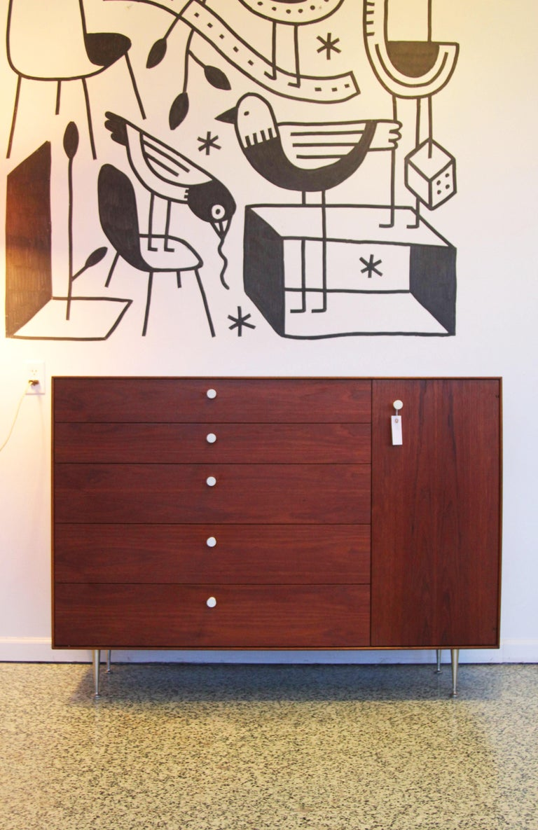 Mid-Century Modern Pair George Nelson Rosewood Thin Edge Prototype Chest Dresser Herman Miller For Sale